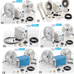 High pressure mist generator pump with water spray mist fogging wall mount fan Dubai