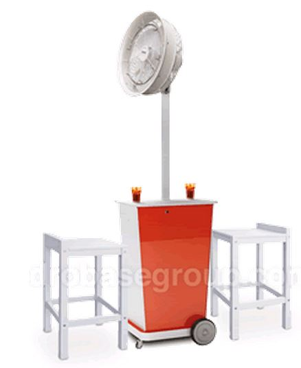 Portable Fan Stands : Portable misting fans for outdoor water cooling in dubai uae